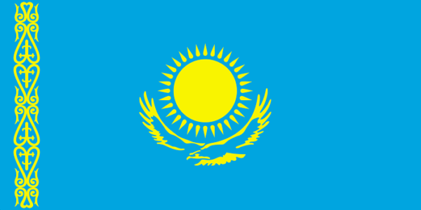 Top 10 countries with slowest internet connection_Flag_of_Kazakhstan