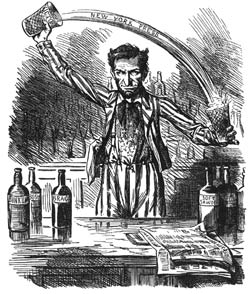 Lincoln was a licensed bartender